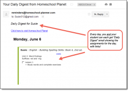 Homeschool Planet Building Spelling Skills Daily Digest button