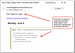 Homeschool Planet Conceptual Academy Daily Digest button