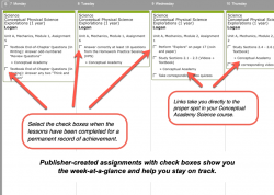 Homeschool Planner Conceptual Academy weekly view button