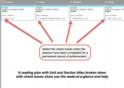 Homeschool Planner Genevieve Foster weekly view button