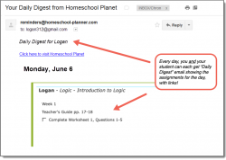Homeschool Planet Introduction to Logic Daily Digest button