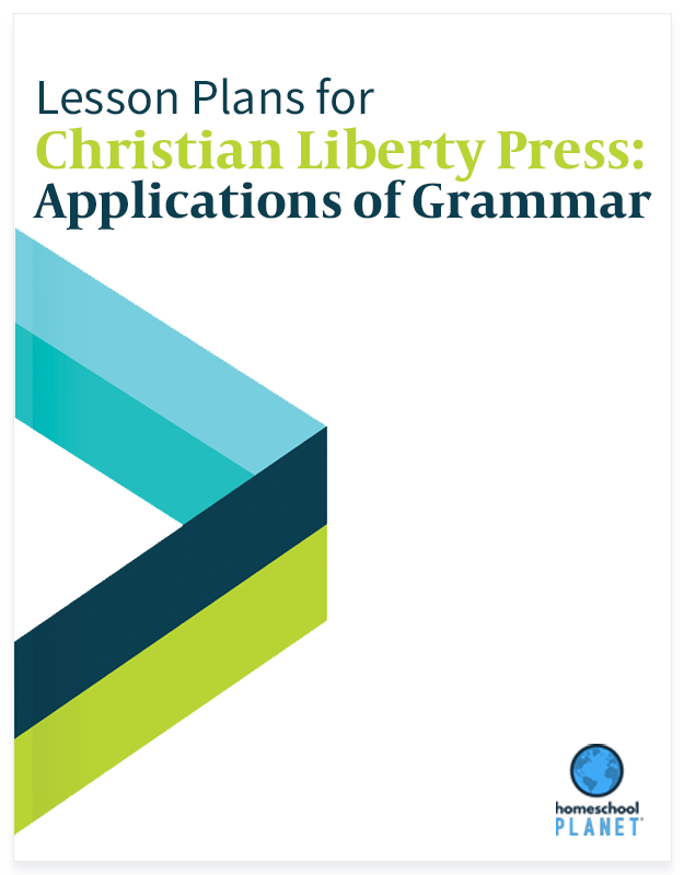 Homeschool Planet Christian Liberty Press: Applications of Grammar lesson plans button