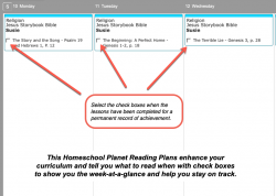Homeschool Planner Bible Reading Plans weekly view button