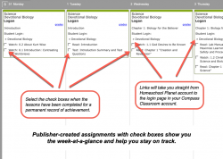 Homeschool Planner Devotional Biology weekly view button