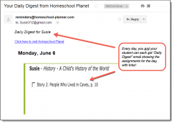 Homeschool Planner History Readings Plans Daily Digest button