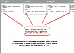 Homeschool Planner Modern Lit Reading Plan weekly view button