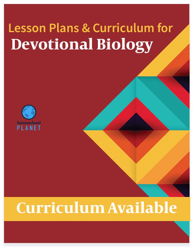 Homeschool Planet Devotional Biology lesson plans and curriculum button