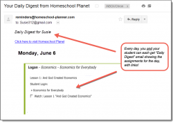 Homeschool Planner Economics for Everybody Daily Digest button