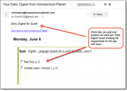 Homeschool Planet Master Books Language Arts Daily Digest button