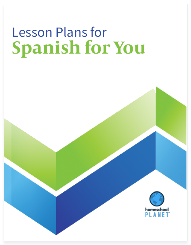 Homeschool Planet Spanish for You lesson plans button