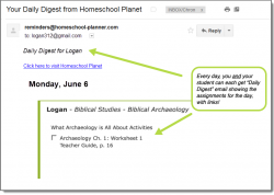 Homeschool Planet Master Books Biblical Studies Daily Digest button