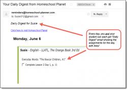 Homeschool Planner LLATL Daily Digest button
