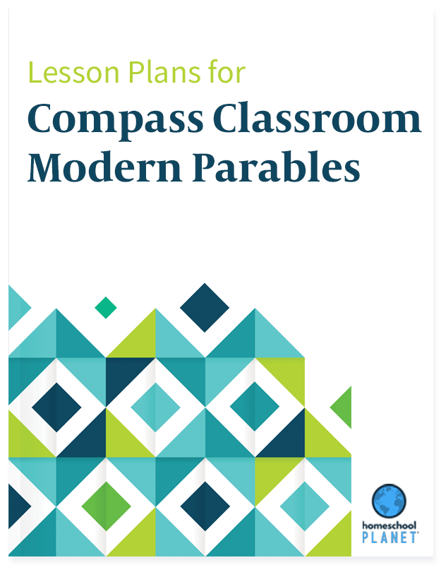 Compass Classroom Modern Parables lesson plans button for Homeschool Planner