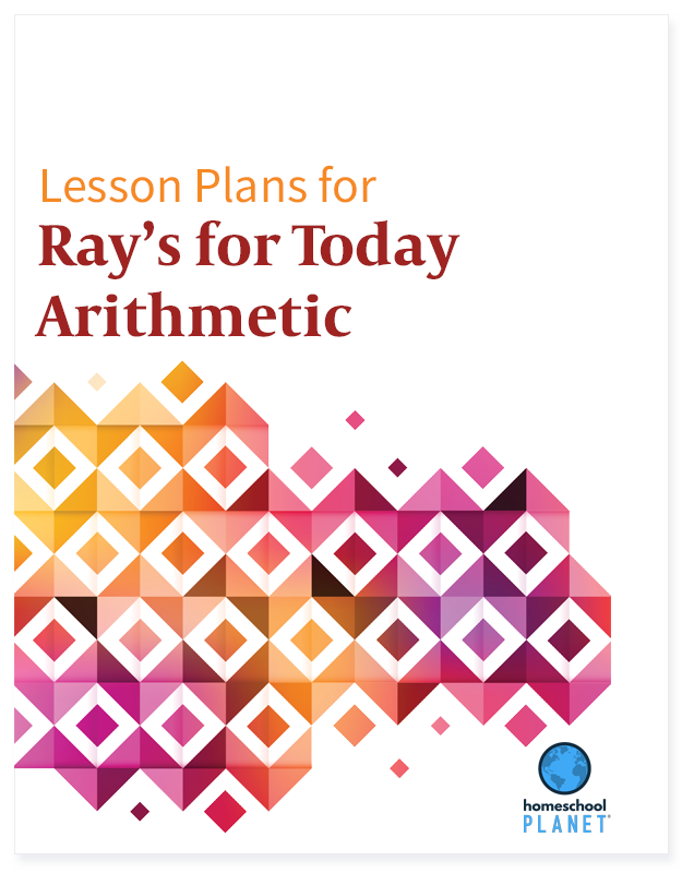 Ray's for Today Arithmetic lesson plan button for Homeschool Planet.