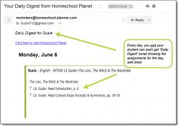 Homeschool Planner WTOT Lit Guides Daily Digest button