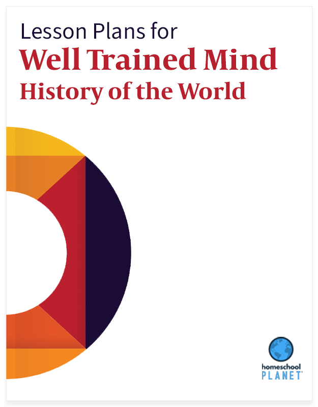 Homeschool Planet Well Trained Mind History of the World lesson plan button