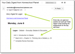 Homeschool Planet CAP Electives- Daily Digest button