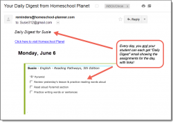 Homeschool Planet Pathways Daily Digest button