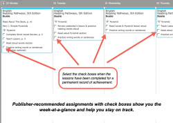Homeschool Planet Pathways Weekly View button