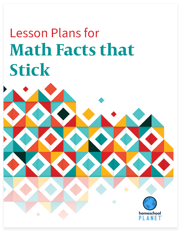 Homeschool Planner Math Facts that Stick lesson plan button