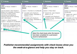 Math in Focus Weekly View